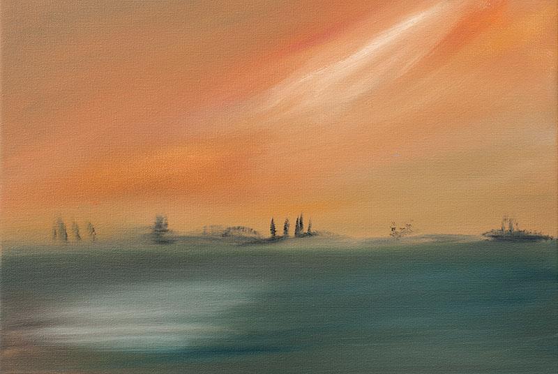 Dreamscapes landschap landscape ad van den boom moderne kunst kunstenaar
