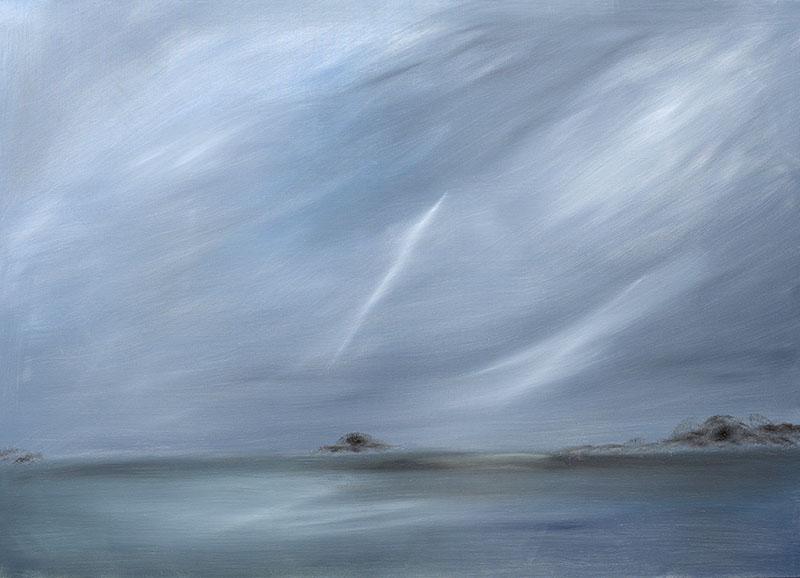 dreamscapes landschap, landscape olieverf op linnen schilderij ad van den boom