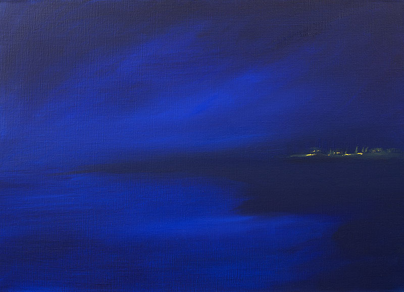 zeegezicht landschap dreamscapes ad van den boom kunstenaar abstracte kunst