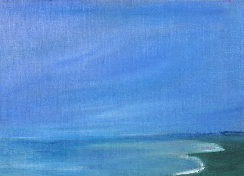 Zeegezicht strand abstracte kunst ad van den boom dreamscapes