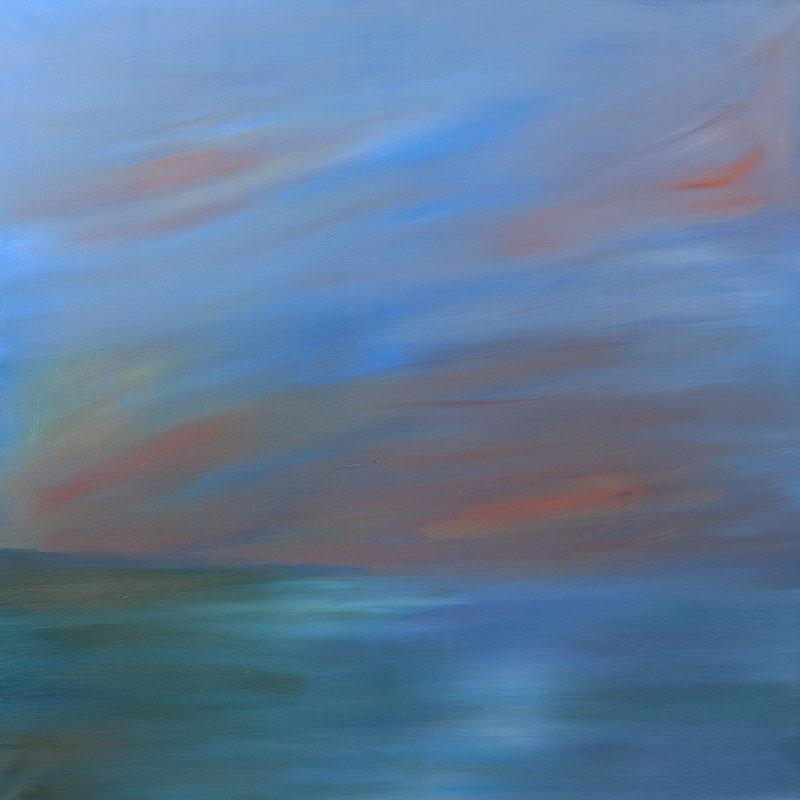 zeegezicht dreamscapes schilderij ad van den boom kunstenaar