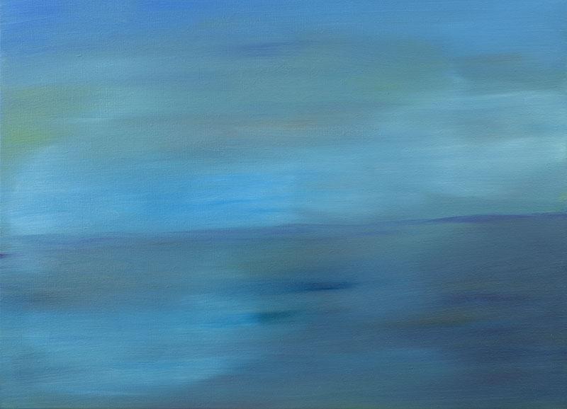dreamscapes zeegezicht schilderij abstracte kunst Ad van den Boom