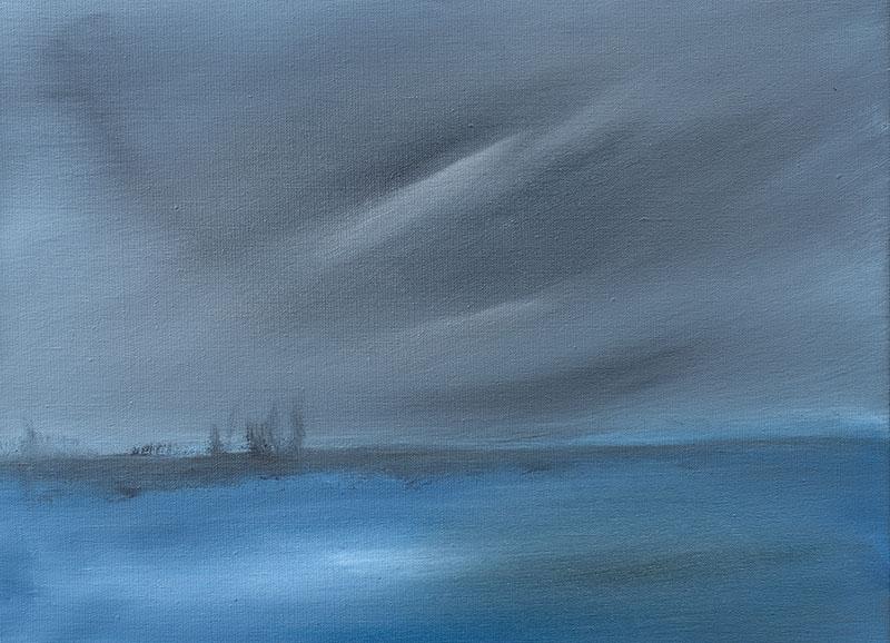 landschap landscape dreamscapes abstracte kunst schilderij ad van den boom