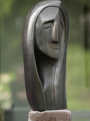 Sculpturen Innerlijke Kracht beeld in brons Ad van den Boom