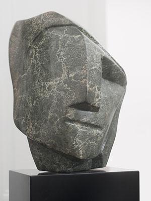 Sculpturen intuïtie beeld groene albast Ad van den Boom