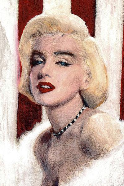 Marilyn Monroe Weg van de werkelijkheid Ad van den Boom kunstenaar