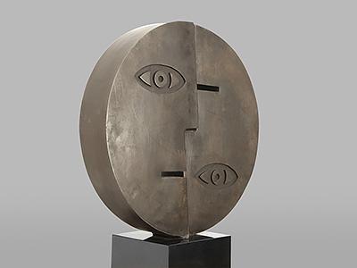 Sculpturen Compleet beeld in brons Ad van den Boom
