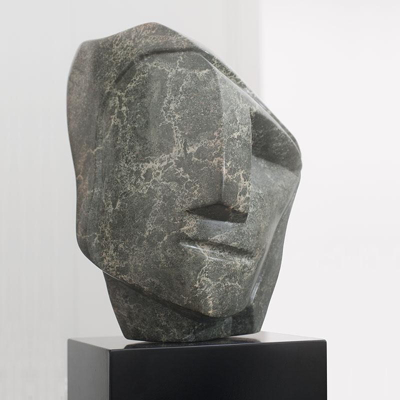 Sculptuur sculpturen Intuitie Groene Serpetijn Ad Van Den Boom