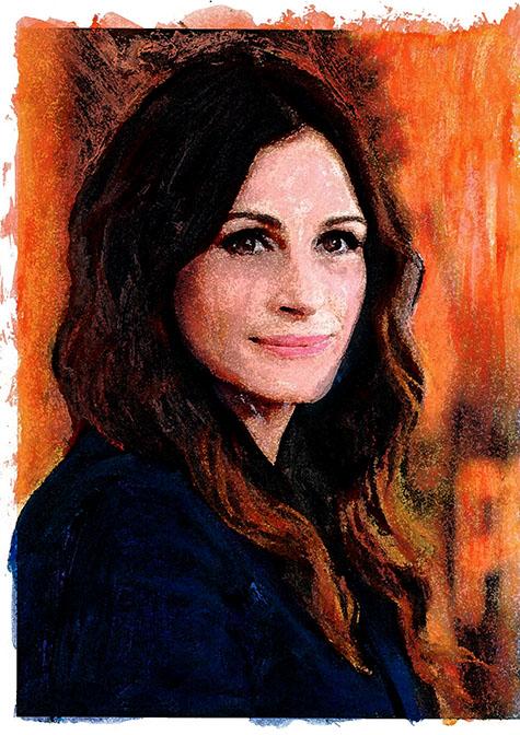 Forever Beautiful Julia roberts, ad van den boom, crealisme, kunstenaar