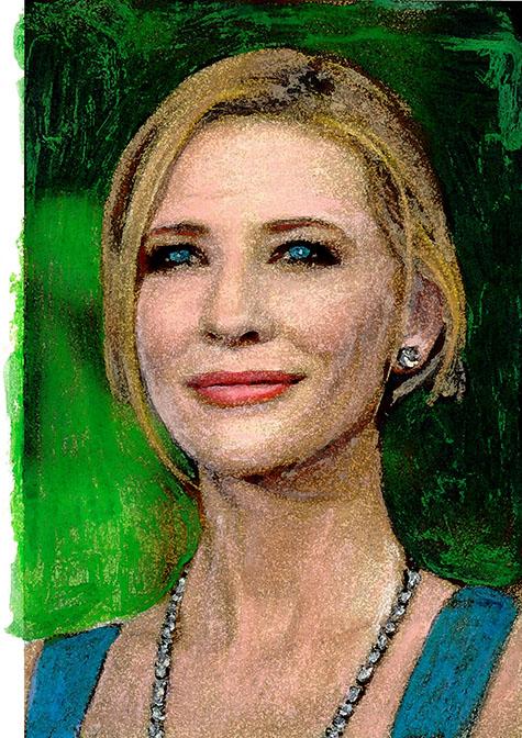 Forever Beautiful Kate Blanchett, ad van den boom, crealisme, kunstenaar