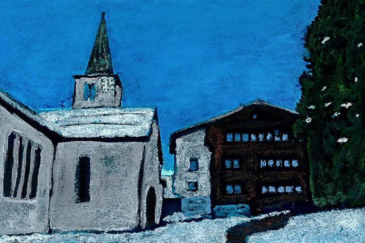 zwitserland,zermatt,dorpsgezicht,grächen,moderne,kunst,schilderij