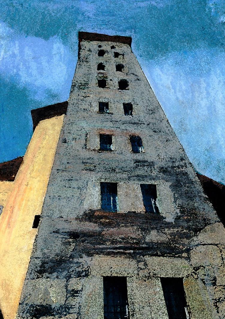 zwitserland,zermatt,berglandschap,toren,sion,moderne,kunst,schilderij