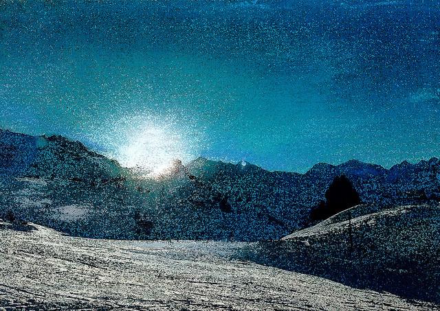 zwitserland,zermatt,schilderij,berglandschap,winter