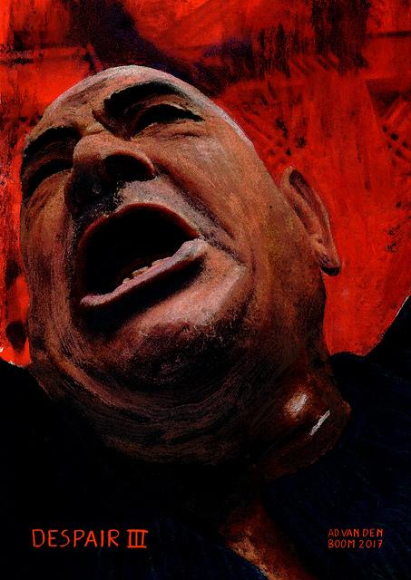 wereldleiders,huilende,man,modern,art,portret,schilderij