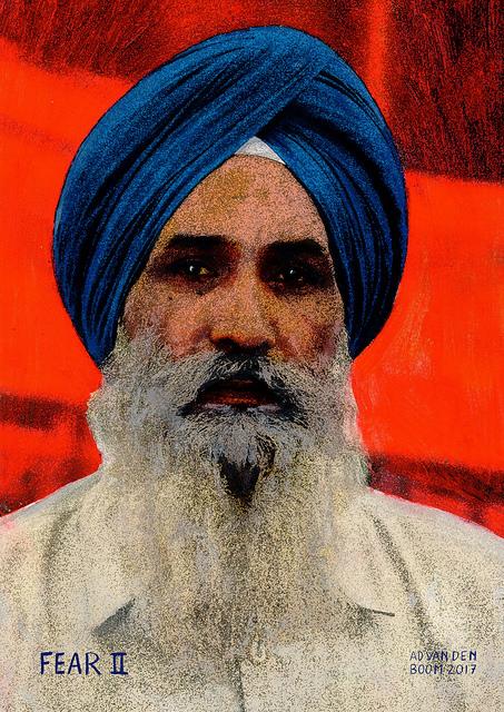 wereldleiders,sikh,modern,art,portret,schilderij