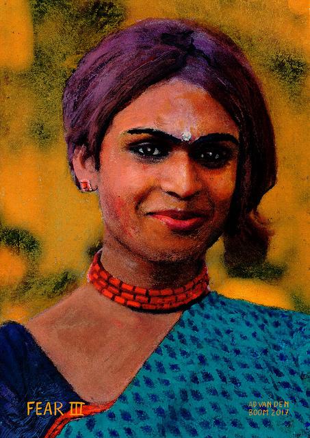 wereldleiders,vrouw,hindoe,modern,art,portret,schilderij