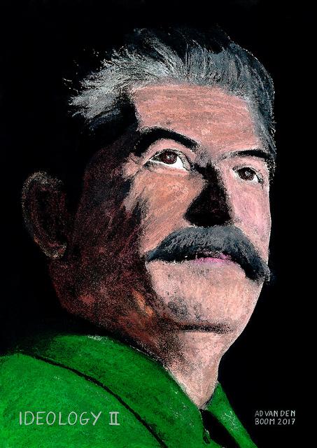 wereldleiders,joseph,stalin,modern,art,portret,schilderij