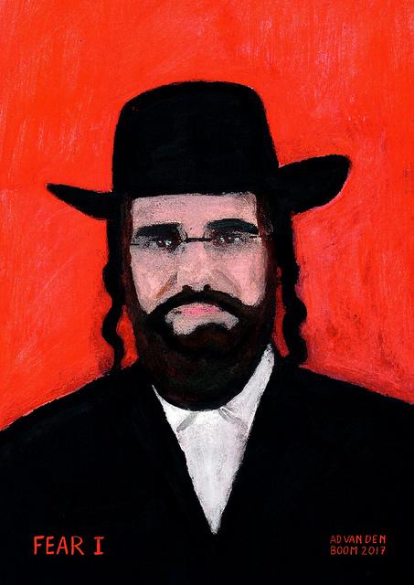 wereldleiders, joodse,man,modern,art,portret,schilderij