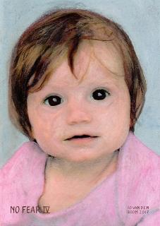 wereldleiders baby meisje art schilderij crealisme