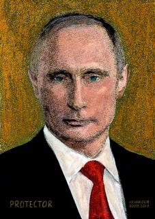 wereldleiders,vladimir,poetin,modern,art,portret,schilderij
