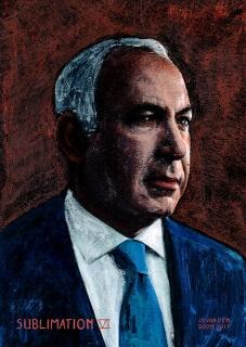 wereldleiders,benjamin,netanyahu,modern,art,portret,schilderij