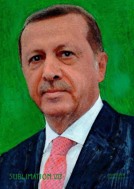 wereldleiders,recep,tayyip,erdogan,modern,art,portret,schilderij