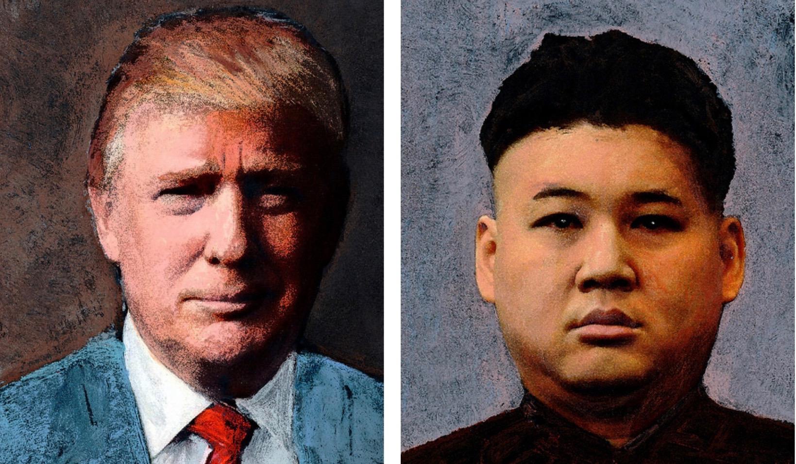 trump,wereldleiders,portret,kim,vrede,leven