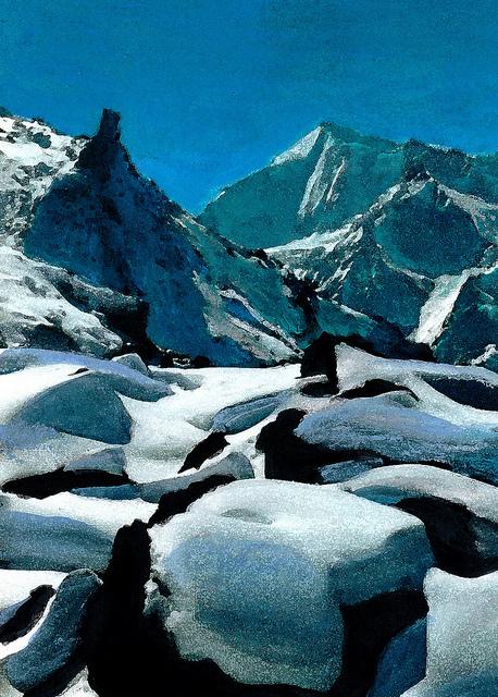 zwitserland,wintersport,sneeuw,rotsen,grächen,moderne_kunst,