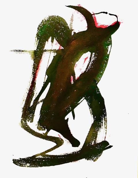 abstract schilderij acryl kunst ad van den boom