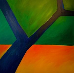 kleurrijk bos schilderij advandenboom olieverf