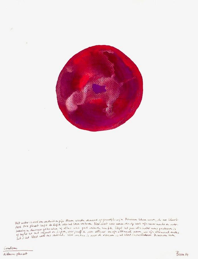 universum planeet schilderij kunst advandenboom