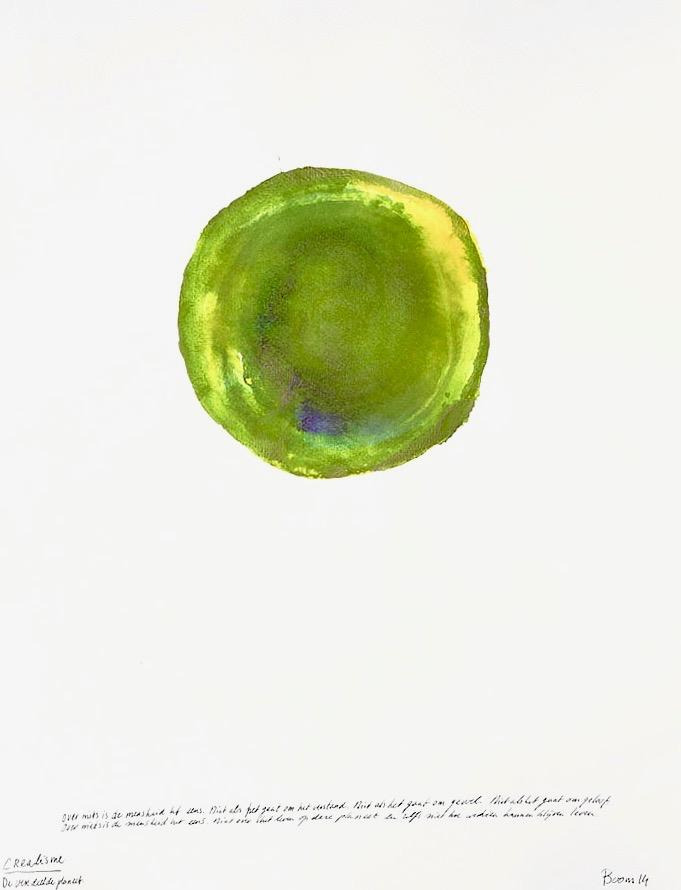 universum planeet groen schilderij advandenboom