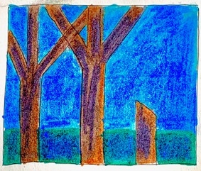 kleurrijk bos crealisme studio tekening advandenboom