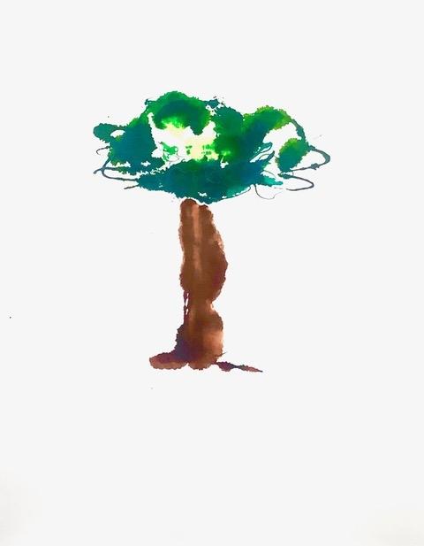 boom bomen schilderij kunst crealism advandenboom