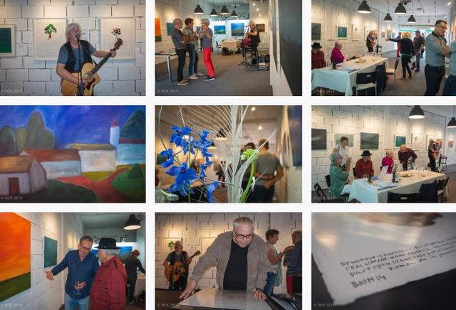 overzicht opening expositie Ad van den Boom