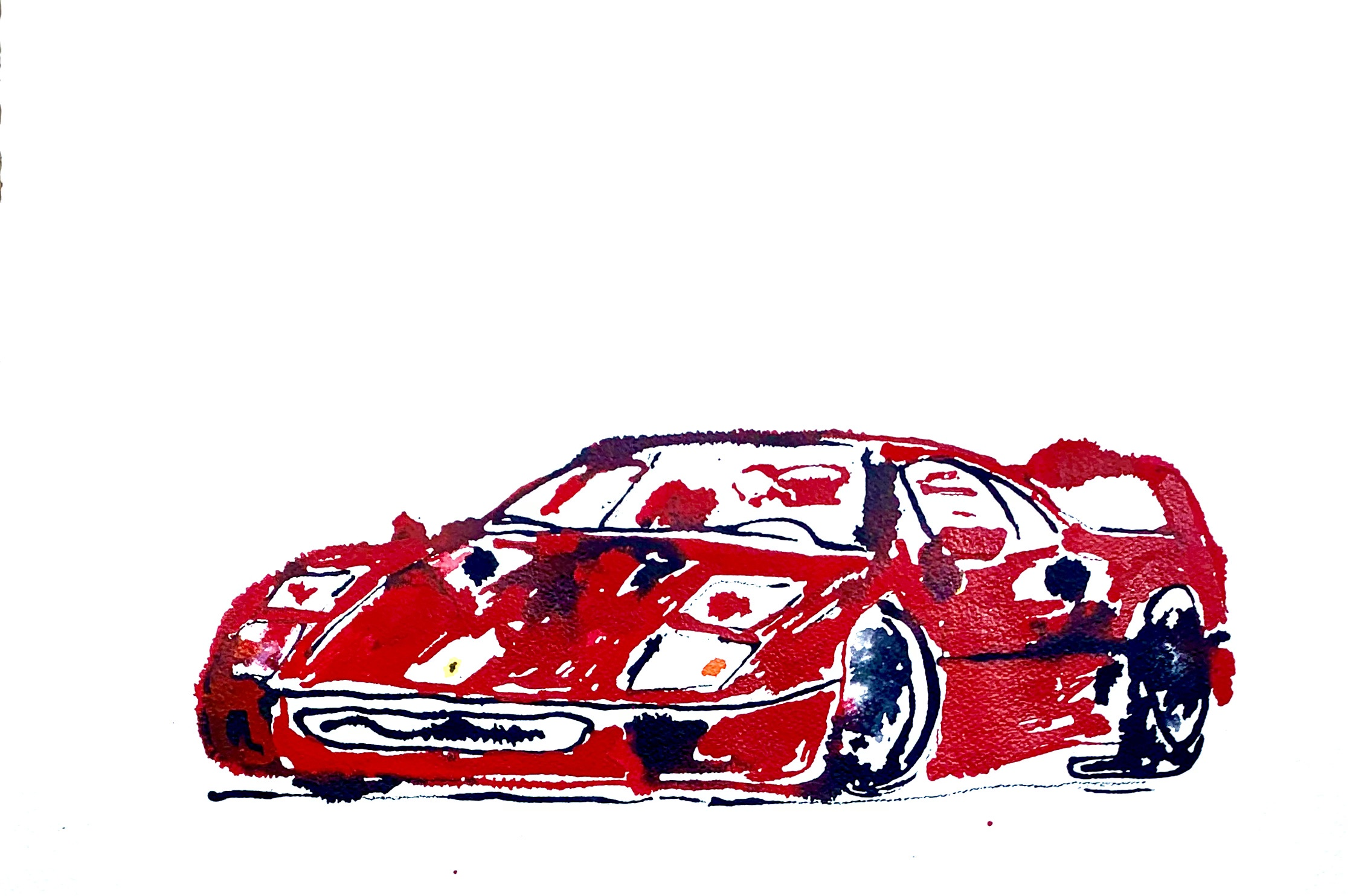 auto ferrari F40 schilderij
